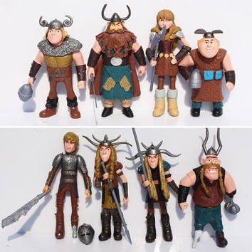 8pcs. How to Train Your Dragon 2 Figurines Toy PVC Action Figure Collectible Toys Christmas Gifts For Kids