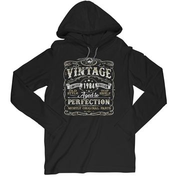 A Vintage 1984 Aged To Perfection Long Sleeve T-Shirt Birthday Hoodie