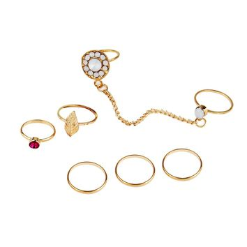 7pcs/Set Women Bohemian Vintage Stack Rings Above Knuckle Rings Set
