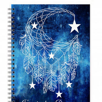 Spiral Notebook, Dreamer Quote, Quote Notebook, Inspirational Gift, Gifts For A Friend, Illustrated Journal, Travel Gift, Quote Journal