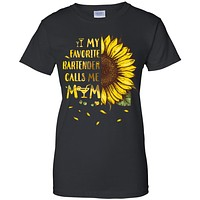 Sunflower My Favorite Bartender Calls Me Mom Mothers Day Gift