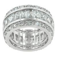 Kinsley Classic Cluster Eternity Cocktail Ring | 11ct | Cubic Zirconia