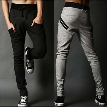 Men's Casual Leisure harem pants sweatpants solid fashion pants pantalon homme hombre harem pants leggings trousers male Joggers