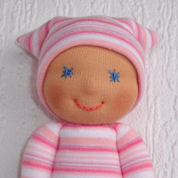 Waldorf Doll, Waldorf baby doll, Pocket doll, Present for newborn, Gift for baby shower, Toddler doll , Cloth doll, Handmade