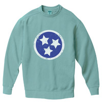 Tennessee State Flag Pigment Dyed Crew Sweatshirt