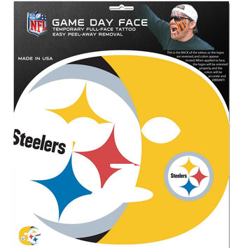 Pittsburgh Steelers Game Face Temporary Tattoo FGFD160