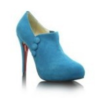 Christian Louboutin Booties C'est Moi Ankle Blue Suede