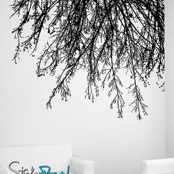 Vinyl Wall Decal Sticker Tree Branches Hanging Down #804