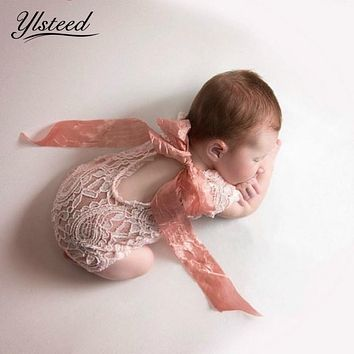 Baby Lace Romper Bowknot Baby Boho Bloomer Newborn Bodysuits Infant Rompers Newborn Photography Props Baby Fotografie Bebe Fotos