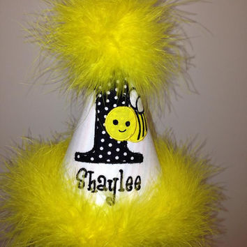 Personalized Bumble Bee Party Hat