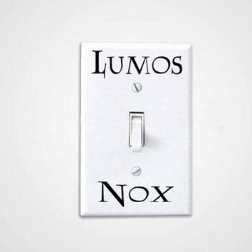 3 Pcs/Set  Lumos Nox Light Switch Sticker , Creative Switch Sticker Vinyl Harry Potter
