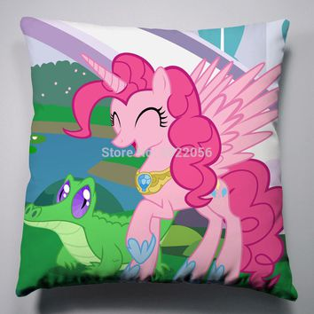 Anime Manga My Little Pony Rainbow Horse Pillow 40x40cm Pillow Case Cover Seat Bedding Cushion 004