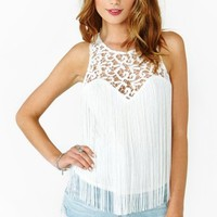 Fringed Lace Tank