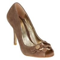 Taupe coin detail peep toe shoes - High heel shoes - Shoes & boots - Women -