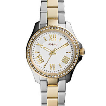 Fossil Ladies Cecile Two Tone Glitz Watch