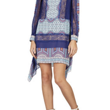 Caralyne Long-Sleeve Relaxed-Fit Dress - Blue