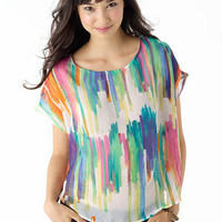 dELiAs > Ikat Printed Blouse > tops > view all tops