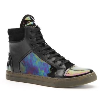 Double Header Patent-Leather Sneaker