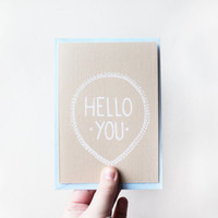 Hello You illustrated note card