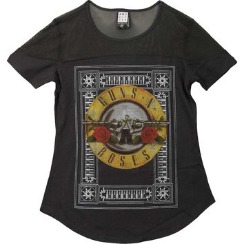 Guns N Roses  Sheer Junior Top Black