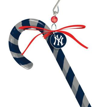 New York Yankees Clay Dough Candy Cane Ornament