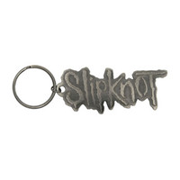 Slipknot Logo Metal Key Chain Silver
