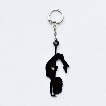 Pole Dance Key Chain - Acryl Pole Dancer Charm - Pole Dancing Gift