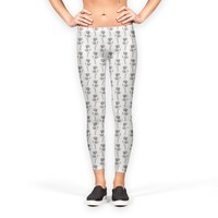 Lotus flowers pattern Leggings by Savousepate from €37.00   miPic