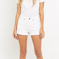 Dr. Denim Jenn Ripped White Shorts - Urban Outfitters