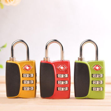 Combination Luggage Approved By TSA Padlock With Coded Dial