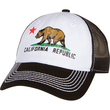 California Republic Screen Print Trucker Hat - Black