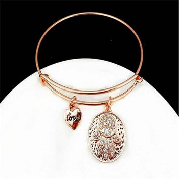 womens mens fashion casual adjustable vintage old rose gold bracelet best gift 2