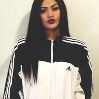 """Adidas"" Women Fashion Zip Cardigan Jacket Coat Sweatshirt Windbreaker"
