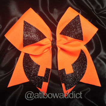 Cheer Bow - Halloween Pumpkin