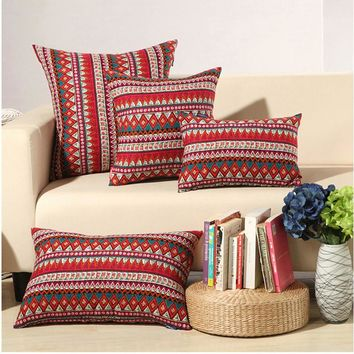 Three Sizes of Bohemian Style Geometry Cushion without inner Home Decor Sofa Chair Seat Decorative Throw Pillow Almofada cojines