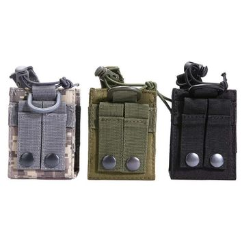 Outdoor Molle Nylon Radio Walkie Talkie Holder Bag Hunting Bag Outdoor Magazine Pouch Pocket Holder Bag Magazine Pouch Pocket