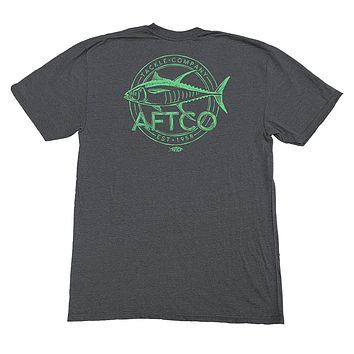 Wammo Tee Shirt in Charcoal Heather by AFTCO