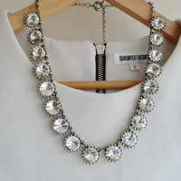 Clear Jewel Crystal Bling Statement Necklace