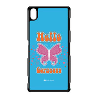 Sassy - Hello Gorgeous 10433 Black Hard Plastic Case for Sony Xperia Z3 by Sassy Slang