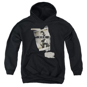 Bettie Page - Newspaper & Lace Youth Pull Over Hoodie