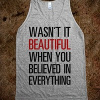 Wasn't it Beautiful? (Tank)-Unisex Athletic Grey Tank