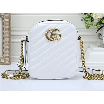 Gucci Fashion Sales Lady Pure Color Shopping Bag Single Shoulder Bag