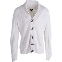 QUINN Mens Cable Knit Long Sleeves Cardigan Sweater