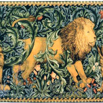 Lion I European Tapestry Wall Hanging