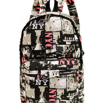 Canvas Backpack for Women, Teens and Kids B004