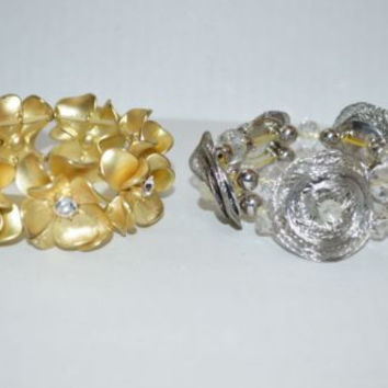 Fashion Bracelets Stretch Adjustable Silver & Gold Tone  LOT