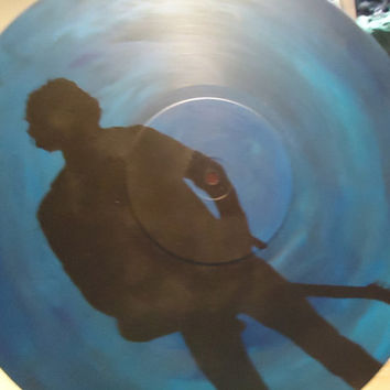 Bruce Springsteen Silhouette Painted Vinyl Record by valderie