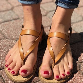 Day Dreaming Sandal- Tan