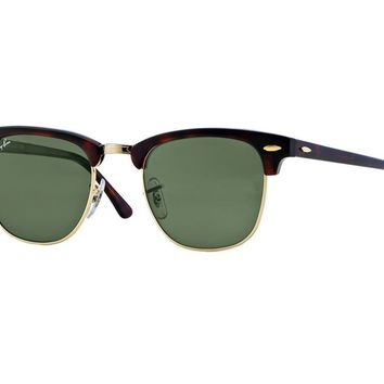 Sunglasses Ray Ban Limited Vintage Rb3016 Clubmaster Havana Green W0366