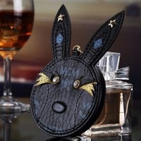 Mcm Creative Rabbit Head Makeup Mirror Charger Hanging Mirror Mobile Power Supply Black